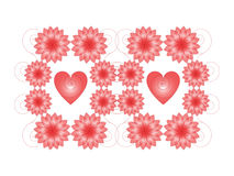 Hearts and flowers Royalty Free Stock Photos
