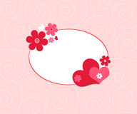 Hearts and flowers Stock Photo