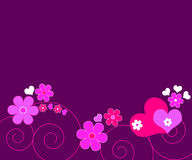 Hearts and flowers Royalty Free Stock Photo