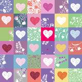 Hearts & flowers background Royalty Free Stock Image