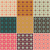 Hearts and flowers  seamless patterns Royalty Free Stock Photography