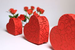 Hearts with flowers Royalty Free Stock Images