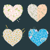 Hearts of the flowers Royalty Free Stock Photo