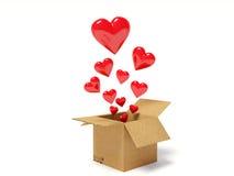 Hearts fly Stock Image