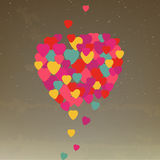 Hearts flying Love is in the Air Valentines day Gr stock images