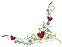 Hearts, forget me not Stock Photo