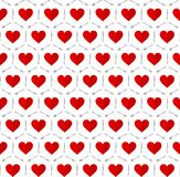 Hearts with fork, spoon and knife cutlery seamless pattern Royalty Free Stock Photo