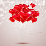 Hearts in the form of balloons. Stock Image