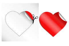 Hearts In Form Of Sticker. Vector Stock Photo