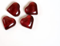 Hearts four red. Four red hearts stationary stock images