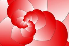Hearts fractal swirl design Royalty Free Stock Image