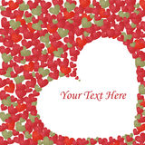 Hearts frame. Illustration of a background with many hearts.Useful as greeting-card for valentine day just adding your text.EPS file available Royalty Free Stock Image