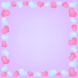 Hearts frame Royalty Free Stock Photos