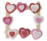 Hearts frame. Stock Photo