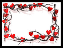 Hearts frame Royalty Free Stock Photo