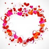 Hearts frame vector illustration
