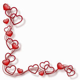 Hearts in a frame Royalty Free Stock Photos