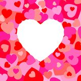 Hearts Frame. Frame consist of hearts for valentines Royalty Free Stock Images