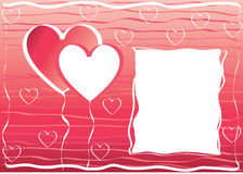 Hearts frame. Valentines day hearts frame love vector illustration