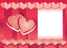 Hearts frame. Valentines day hearts frame love royalty free illustration