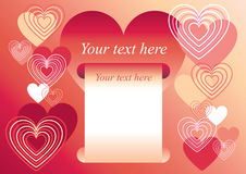 Hearts frame. Valentines day hearts frame love stock illustration
