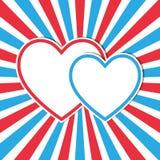 Hearts frame Stock Photo