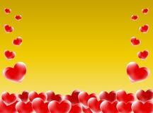 Hearts frame royalty free stock photos