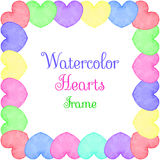 Hearts frame Royalty Free Stock Image