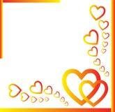 Hearts Frame stock photos