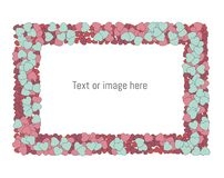 Hearts frame with space for text/ image. royalty free illustration