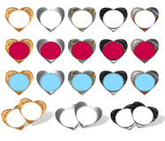 Hearts - frame stylish Stock Photography