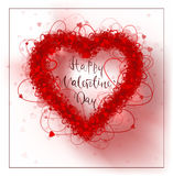 Hearts frame Valentine`s day background. Illustration. Rasterized Copy Stock Photos