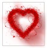 Hearts frame Valentine`s day background. Illustration. Rasterized Copy Stock Photography