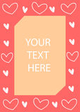 Hearts frame, valentine`s day card. Vector illustration. Hearts frame, valentine`s day card. Invitation card. Vector illustration stock illustration