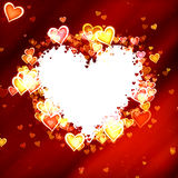 Hearts frame of Valentine's day with clipping path. Love texture Royalty Free Stock Photos