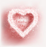 Hearts frame Valentine`s day vector background. Vector illustration Stock Photo