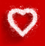 Hearts frame Valentine`s day vector background. Vector illustration Stock Photos