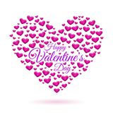 Hearts frame Valentine`s day. Vector illustration for your design. Hearts frame Valentine`s day vector background. Vector illustration for your design Royalty Free Stock Photo