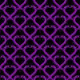 Hearts Frames Seamless Texture Wallpaper. Heart pink frames wallpaper pattern on a dark background. Seamless texture background Stock Image