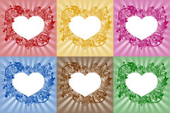 Hearts - frames for text Royalty Free Stock Photo