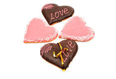 Hearts frosting cookies Stock Photography