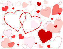 Hearts Galore Background royalty free illustration