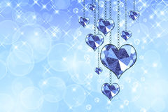 Hearts garland Royalty Free Stock Images