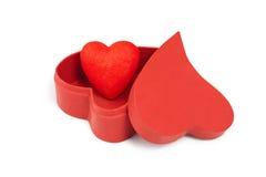 Hearts&gift配件箱2 库存照片