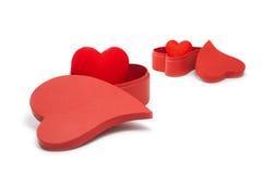 Hearts&gift配件箱4 免版税图库摄影