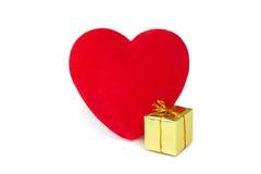 Hearts&gift box-1 Стоковые Фотографии RF