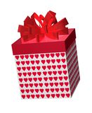 Hearts Gift Box Royalty Free Stock Photos