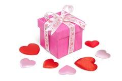 Hearts&gift box-6 Стоковая Фотография RF