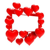 Hearts with gift card Stock Image