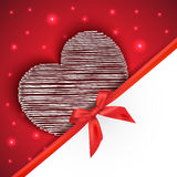 Hearts gift greeting card Stock Photo